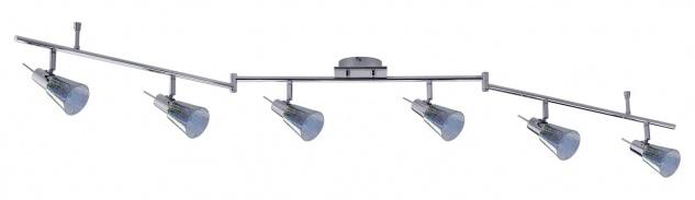 Paulmann Spotlight Omikron Stange 6x42W G9 230V Chrom Metall/Glas