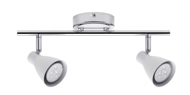 Paulmann Spotlight 2Simple LED 2x3, 5W GU10 230V Weiß/Chrom Metall - Vorschau 2