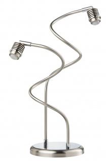 Paulmann Living 2Easy MyLED Tischleuchte 2x5W LED Eisen gebürstet/Chrom 230V Metall