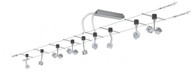 Paulmann Wire System Light&Easy GEO Basissystem 60 12m Chrom matt 230V 60VA Metall - Vorschau 2