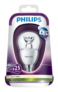 8718291743439 Philips LED Leuchtmittel E14 3 Watt, 250lm 2700 Kelvin, ersetzt 25 W, warmweiss