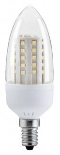 10 x LED Kerze Paulmann 2, 6W E14 Fassung Klar Warmweiß 200 lm 28109.10 - Vorschau 1