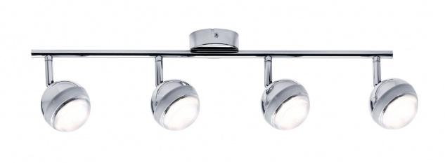 Paulmann 603.62 Spotlight Scoop LED 4x4, 6W Chrom 230V Kunststoff