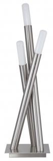 Paulmann Living Gala Pure Tischleuchte Fiaccola 3x10W Energiesparlampe E14 Eisen gebürstet 230V Metall