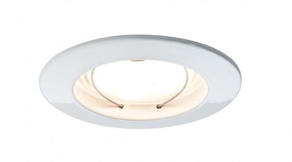 Paulmann 928.23 Premium Einbauleuchte Set Coin dimmbar satiniert rund st LED 3x7W 2700K 230V 51mm Weiß m/Alu Zink
