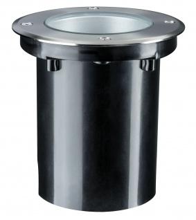 Paulmann Outd Plug & Shine Boden Einbauleuchte IP67 675lm 4000K 6W 24V 38° schwenkbar 20° Si Metall - Vorschau 4