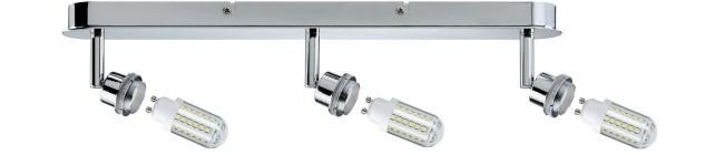 Paulmann 603.08 Spotlights DecoSystems LED Balken 3x3W GZ10 230V Chrom Metall