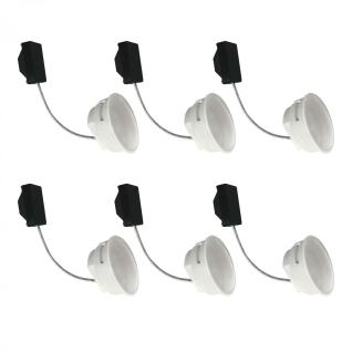 6-er Set 5, 5 W LED Modul Warmweiß 230 V 3000 Kelvin 400 Lumen für Einbauleuchten
