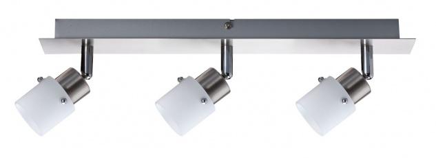 Nice Price 664.81 Nice Price Spotlights Balken 3x40W G9 Eisen gebürstet/Opal 230V Metall/Glas