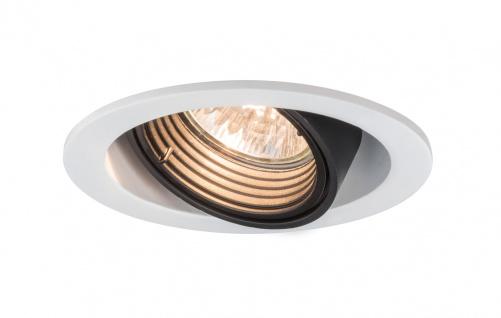 Paulmann Premium Einbauleuchte Daz rund dimmbar schwenkbar 1x8W LED 230V GU10 Weiß m./Schw. 926.81.LED 2700K