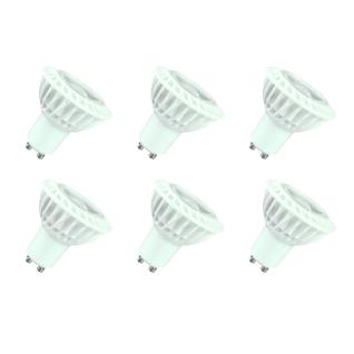 6er Set LED Leuchtmittel 3W GU10 3000K Warmweiss 230V 230lm Weiß