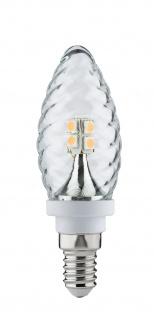 10 x LED Kerze Gedreht 2, 5W E14 Fassung 230V Klar 28172.10 Paulmann