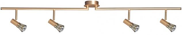 664.75 Paulmann Spotlights Betula Stange 4x40W E14 Gold matt 230V Metall