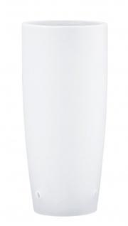 Paulmann 700.81 Living 2Easy Midi Cocone Satin/Weiß-Glas