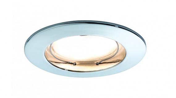Paulmann Premium Einbauleuchte Set Coin dimmbar satiniert rund st LED 1x7W 2700K 230V 51mm Chrom/Alu Zink