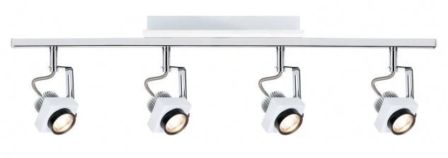 Paulmann 602.62 Spotlight Phase Stange 4x5W Weiß Chrom 230V Metall