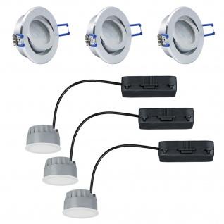 LED Einbauleuchten dimmbare 3x7W 2700K Warmweiss 230V 3x380 Lumen Alu gebürstet inkl. austauschbare LED Modul geringe Einbautiefe