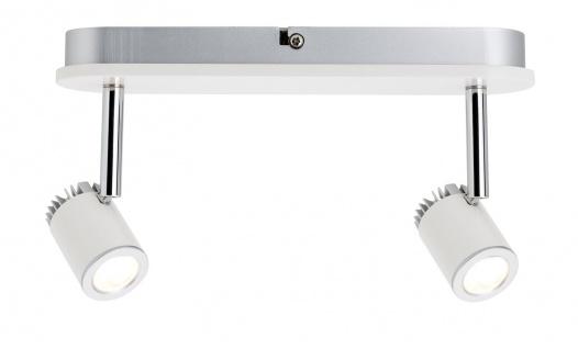 Paulmann 602.31 Spotlight Tremolo Balken 2x3W Weiß matt 230V Metall