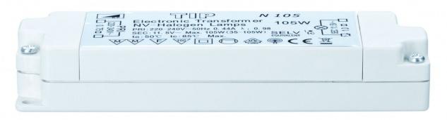 TIP 977.88 VDE Elektroniktrafo 35-105W 230/12V 105VA Weiß