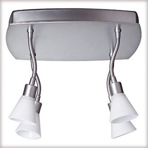 664.62 Paulmann Spotlights Curcuma Rondell 4x35W GU4 Chrom matt/Opal 230/12V 2x105VA Met/Glas