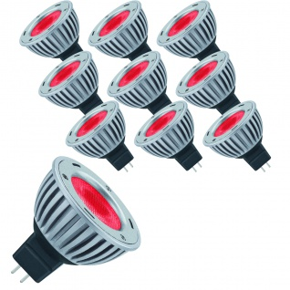 10 x 28058.10 Paulmann 12V LED Powerline 1x2, 5W GU5, 3 Fassung Rot