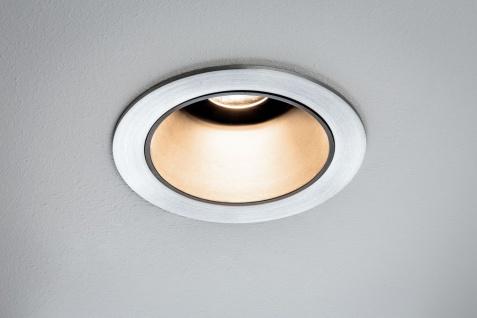 926.50 Paulmann LED Einbauleuchten-Set Luca 12, 6 W 2.700 K IP44 39° Alu gebürstet/schwarz