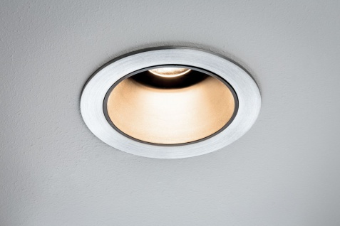 Paulmann 92650 LED Einbauleuchten-Set Luca 12, 6 W 2.700 K IP44 39° Alu gebürstet/schwarz