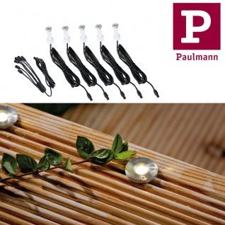 Paulmann 937.59 Special Boden Einbauleuchte Ergänzungsset MicroPen IP67 5x0, 16W 3000K 12mm Edelstahl