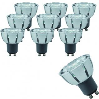 10 x 28065.10 Paulmann GU10 Fassung LED Premiumline Reflektor 51mm 4W GU10 dimmbar