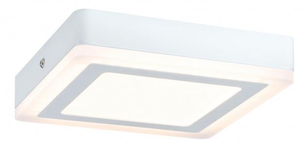 Paulmann 707.32 WallCeiling Sol LED-Panel 7W 195x195mm Weiß 230V Alu