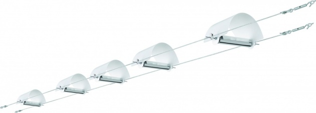 Paulmann Wire System Arc 5x(2x10)W G4 Weiß 230/12V 105VA Metall/Glas