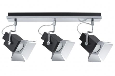 Paulmann 600.51 Spotlights Cinema Balken max.3x50W GU10 Schwarz matt 230V Metall
