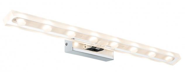 Paulmann Galeria LED Bilderleuchte Block 9, 5W Chrom/transparent 230V Metall/Acryl