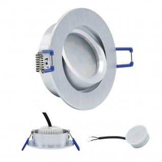 LED Einbauleuchte 4134 Alu 5W 3000K 230V Modul flache Einbautiefe 35mm - Vorschau 1