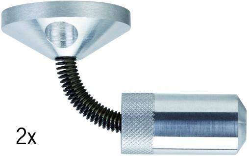 Paulmann Wire System Light&Easy Wandspanner flexibel 1 Paar 42mm Chrom matt Metall