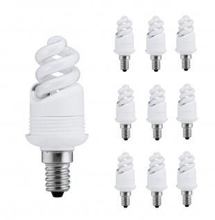 Paulmann Energiesparlampe 10er Set 7W E14 Warmweiß