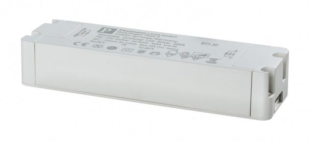 Paulmann 977.32 LED Trafo Transformator Konstantstrom 700mA 30W dimmbar Weiß