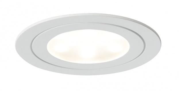 Paulmann Möbel Einbauleuchte Set Circuit LED rund 3x5, 6W 17, 5VA 230V/350mA 85mm Weiß matt/Metall - Vorschau 2