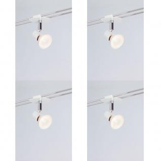 4x Paulmann Schienen Spots Hip Teja weiß inkl. Halogen Leuchtmittel in 35W 12V