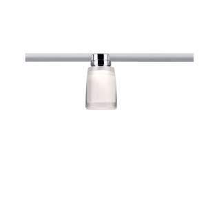 Paulmann URail Ceiling Safira 1x5, 2W Chrom/Klar/Satin 230V Metall/Acryl