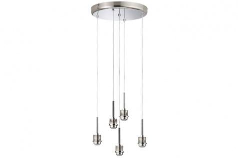 Paulmann Living 2Easy MyLED Pendel Rondell 5x4, 8W LED Eisen gebürstet/Chrom 230V Metall