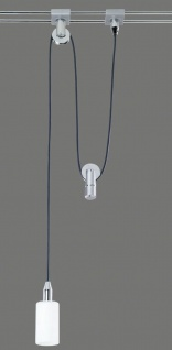 83.05 Paulmann Rail Lucca Pendel 20W G4 Chrom/Glas 230/12V Alu/Glas