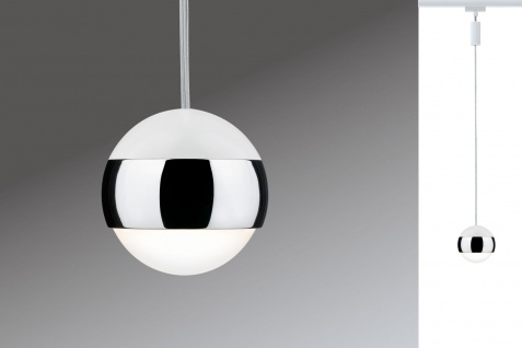Paulmann URail Schienensystem LED Pendel Capsule 1x4, 5W Weiß 230V Metall