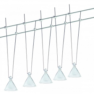 973.97 Paulmann Seil Komplett Set Wire System Trinidad 105 5x20W G4 Chr/Transp/Satin 230/12V 105VA Metall/Glas