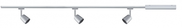 Paulmann URail Schienensystem Set Cover max 3x10W GU10 Chrom matt/Chrom 230V Metall 1m