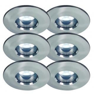 6er Set IP65 LED Einbauleuchten inkl. 5W Neutralweiß LED Leuchtmittel GU10 Sockel Badlampen Duschkabine