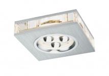 Premium EBL Liro eckig LED 1x3W 350mA 3VA 85x85mm Alu geb./Klar