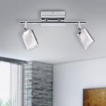 Leuchten Direkt 11242-17 WELLA Wand- und Deckenleuchte, chrom 2xLED-Board/4, 20W/3000K Innenleuchte, IP20
