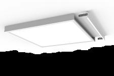 6389 Aufbaurahmen Aluminium weiss für LED Panel 120x30cm hochwertig