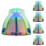4x 600.11 Paulmann Lampenschirme DecoSystems Schirm Wolbi max.50W Glas Dichroitic